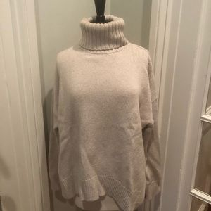 All Saints oatmeal colored wool turtleneck, Large